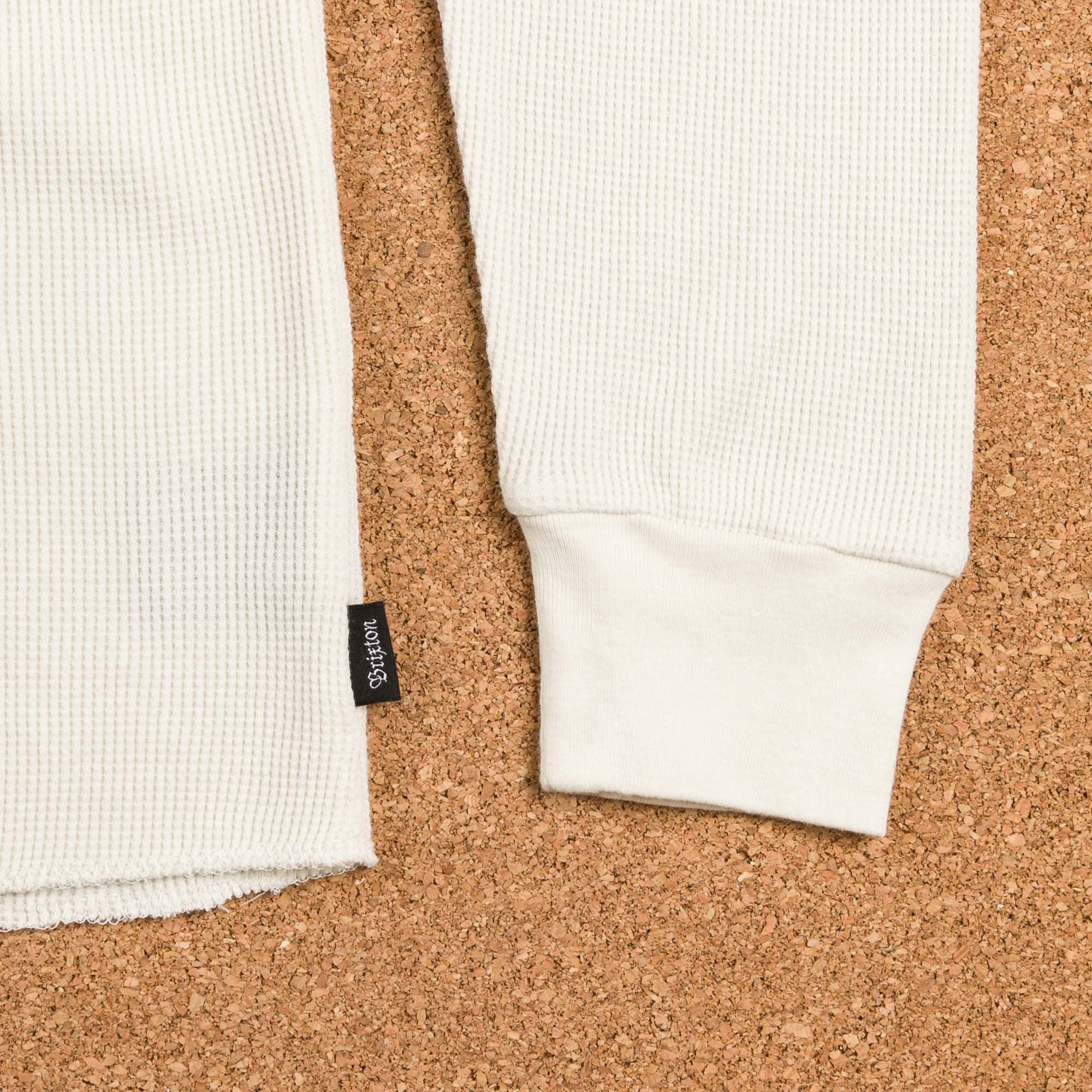 Brixton Redford Long Sleeve Henley Shirt - Off White