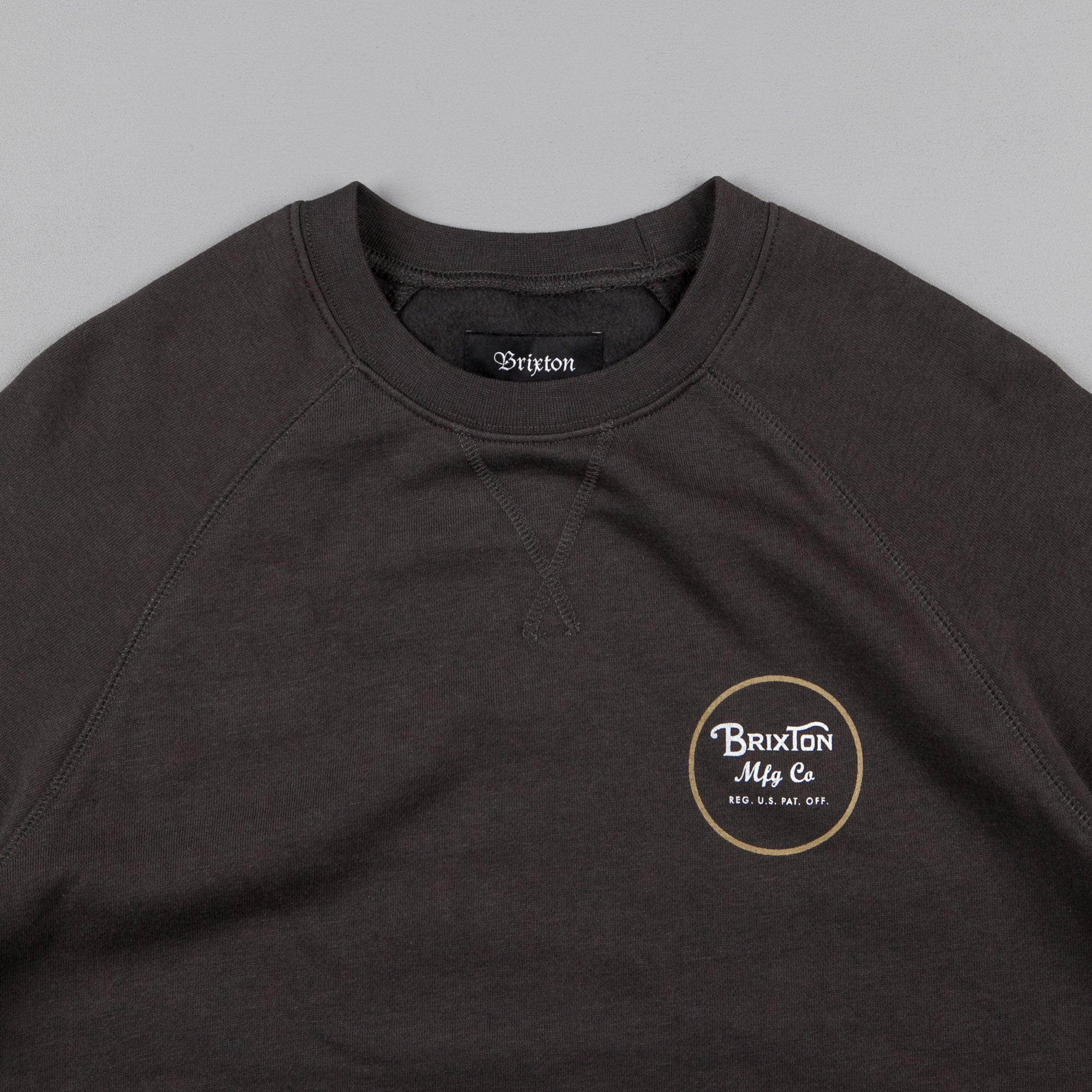 Brixton Wheeler Crewneck Sweatshirt - Washed Black