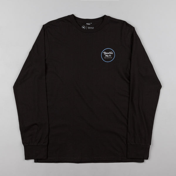 Brixton Wheeler II Long Sleeve T-Shirt - Black / Blue