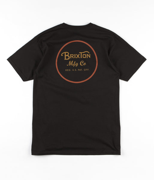 Brixton Wheeler II T-Shirt - Black / Orange