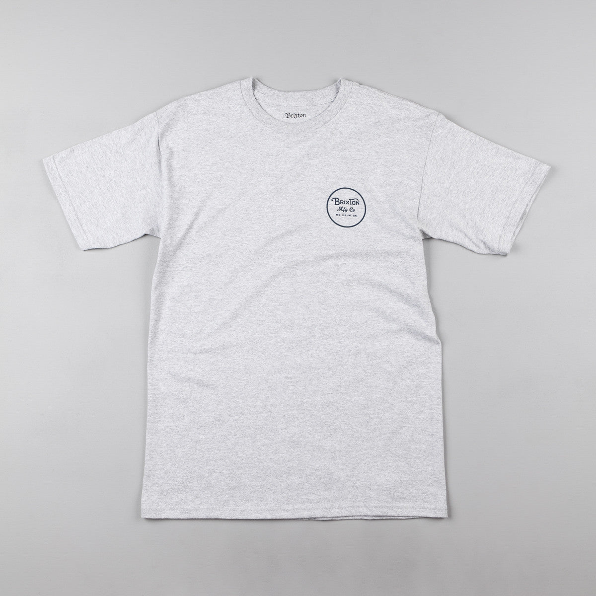 Brixton Wheeler II T-Shirt - Heather Grey