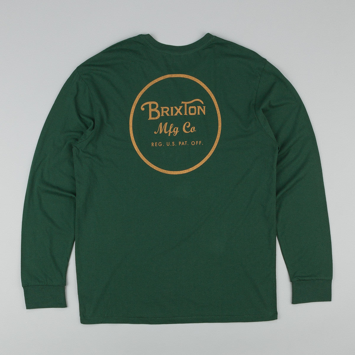 Brixton Wheeler Long Sleeve Premium T-Shirt - Forest Green