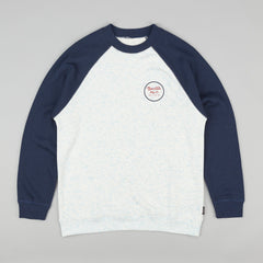 Brixton Wheeler Sweatshirt - Heather Blue / Navy.