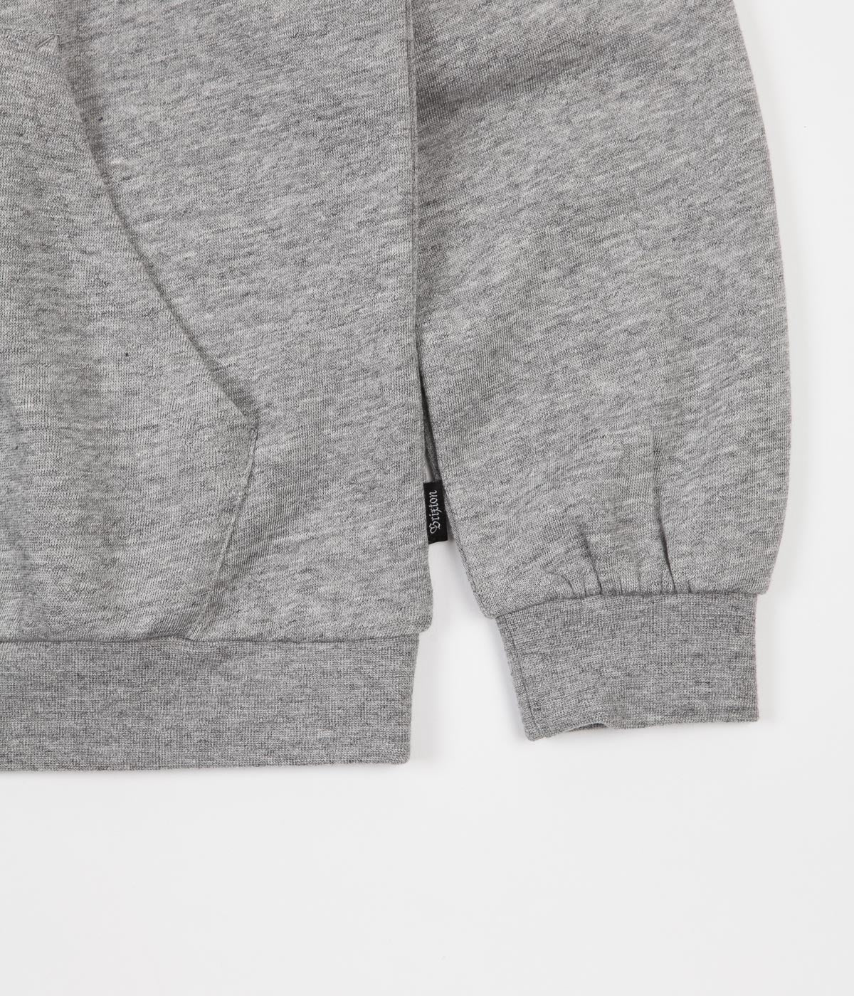 Brixton Wicker Hoodie - Heather Grey