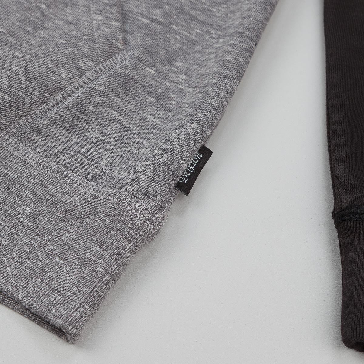 Brixton Wilkinson Hooded Sweatshirt - Heather Grey / Black