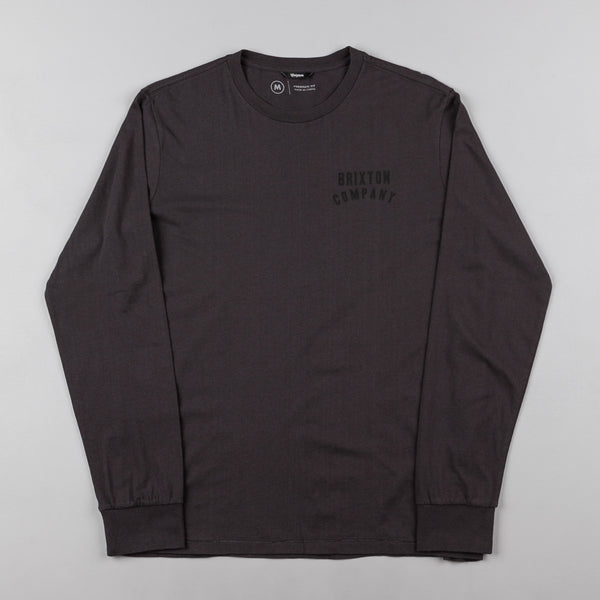 Brixton Woodburn Long Sleeve T-Shirt - Washed Black / Black