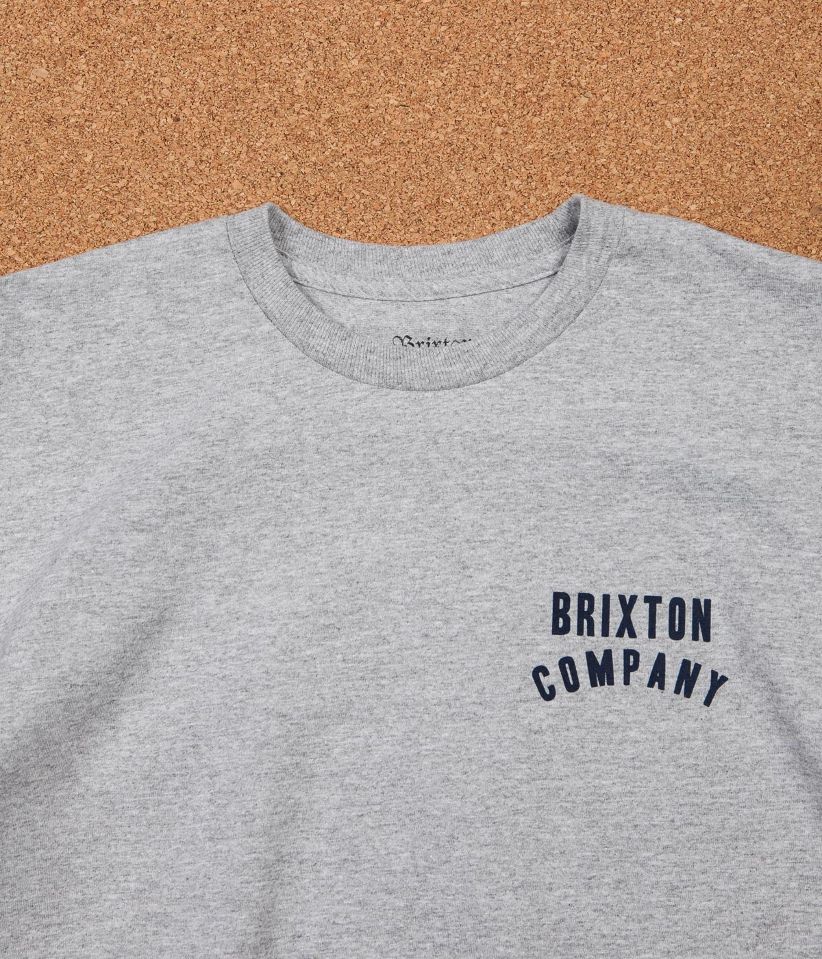 Brixton Woodburn T-Shirt - Heather Grey / Navy