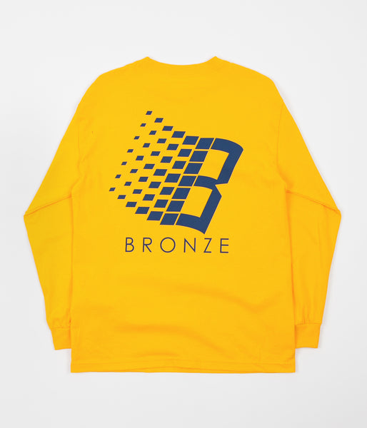 Bronze 56K B Logo Long Sleeve T-Shirt - Gold / Blue
