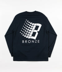 Bronze 56k B Logo Long Sleeve T-Shirt - Navy / White