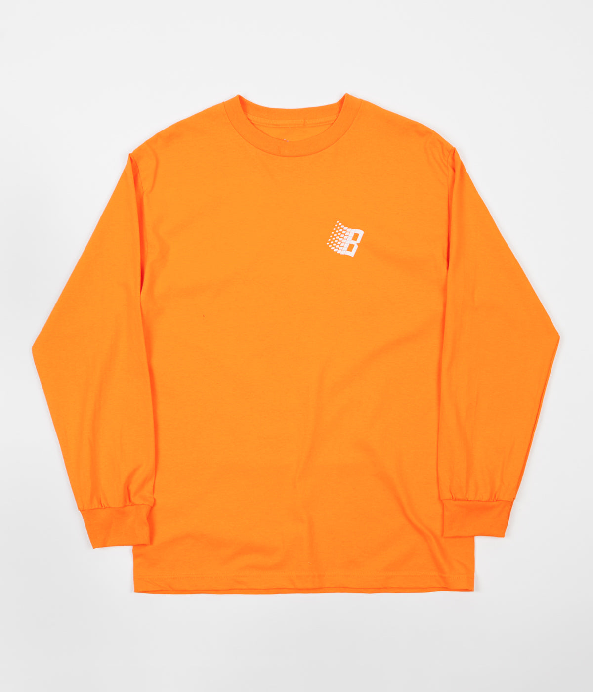 Bronze 56K B Logo Long Sleeve T-Shirt - Orange / White