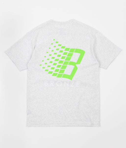Bronze 56K B Logo T-Shirt - Ash / Lime / White