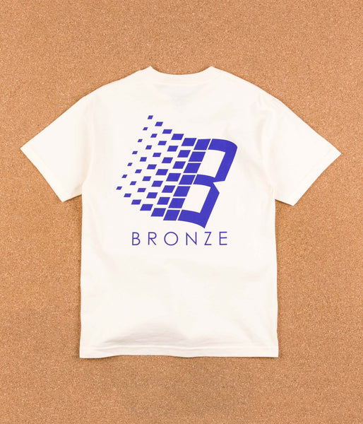 Bronze 56k B Logo T-Shirt - Cream / Blue