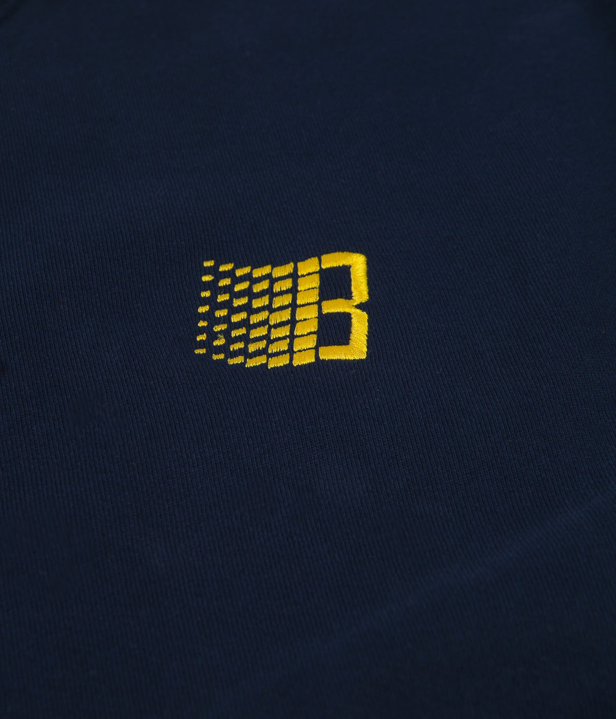 Bronze 56k Embroidered B Logo Crewneck Sweatshirt - Navy