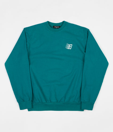 Bronze 56k Embroidered B Logo Crewneck Sweatshirt - Teal