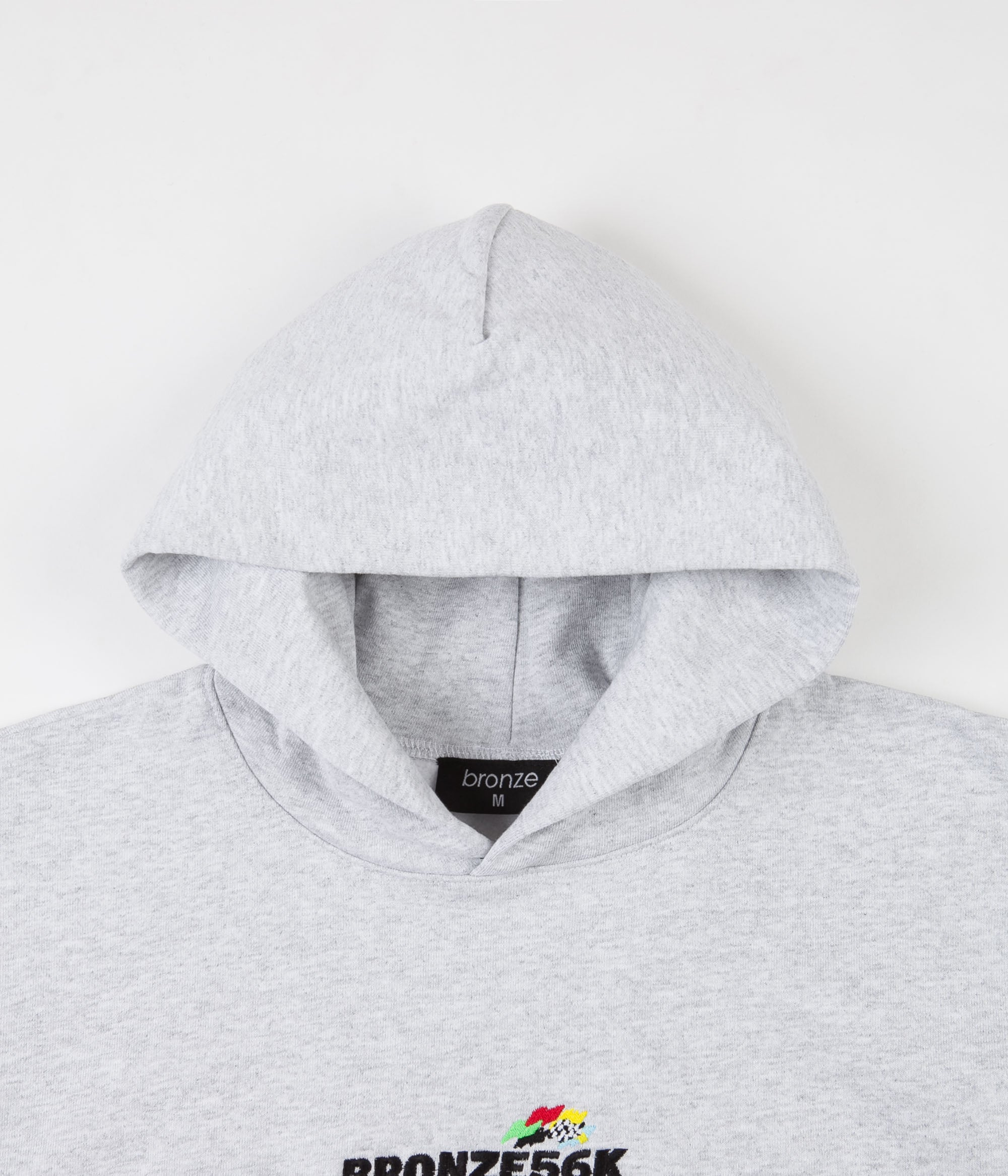 Bronze 56k Embroidered Speed Hoodie - Ash Grey