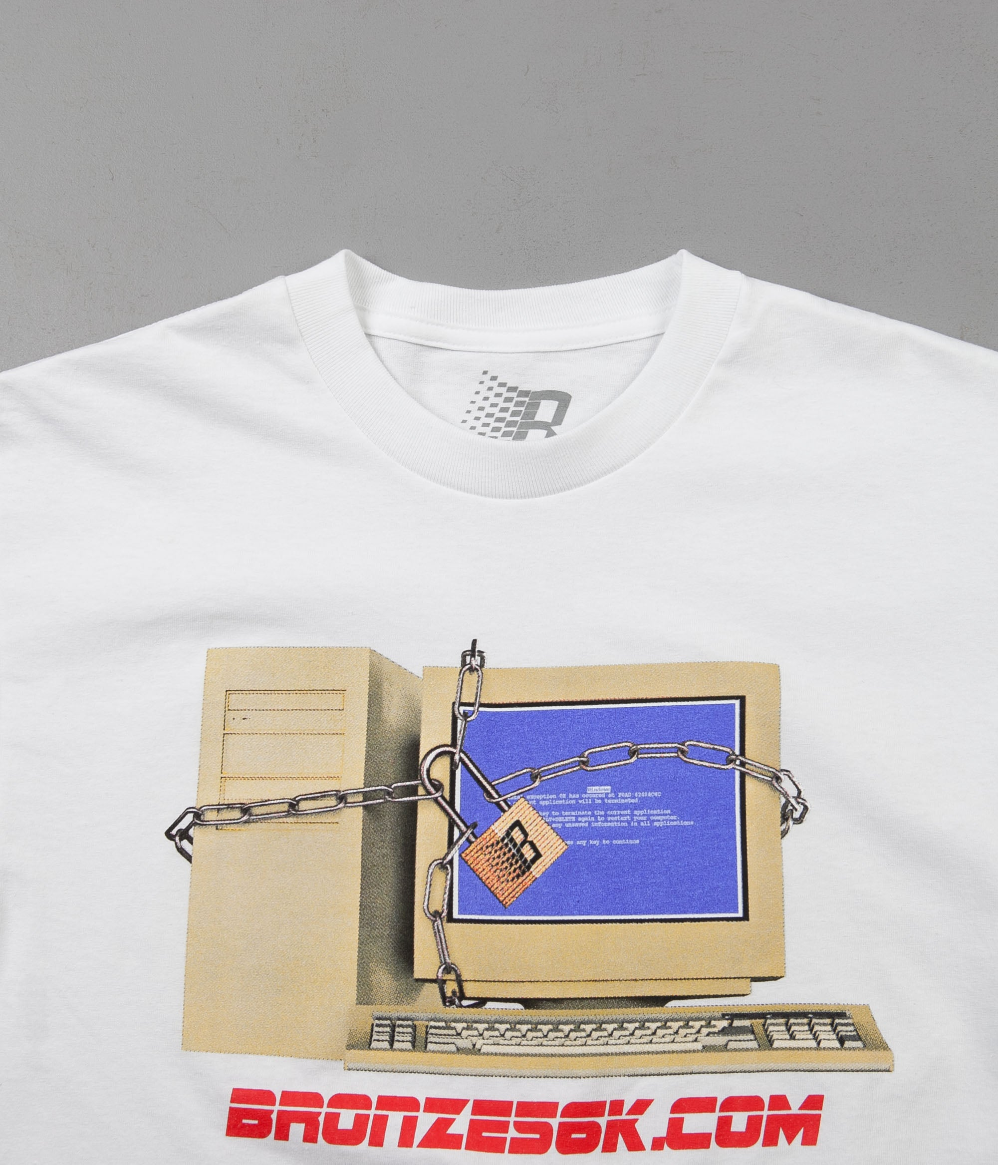 Bronze 56k Firewall T-Shirt - White