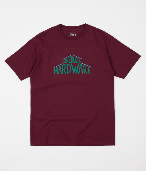 Bronze 56K House T-Shirt - Burgundy / Green / Blue