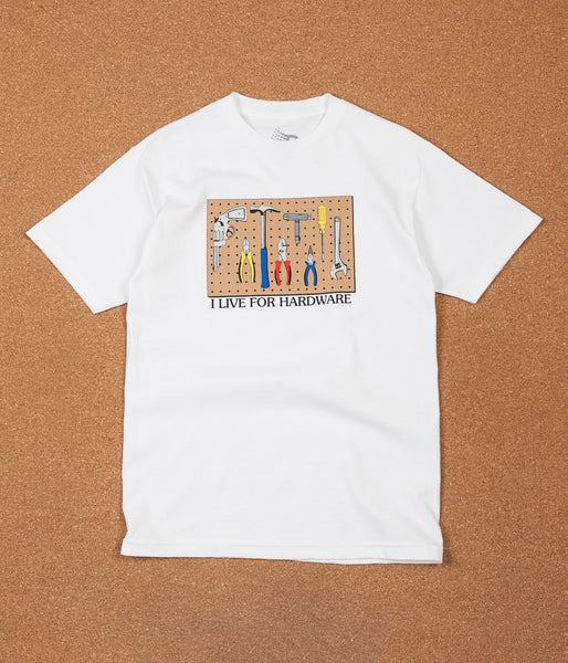 Bronze 56K I Live For Hardware T-Shirt - White