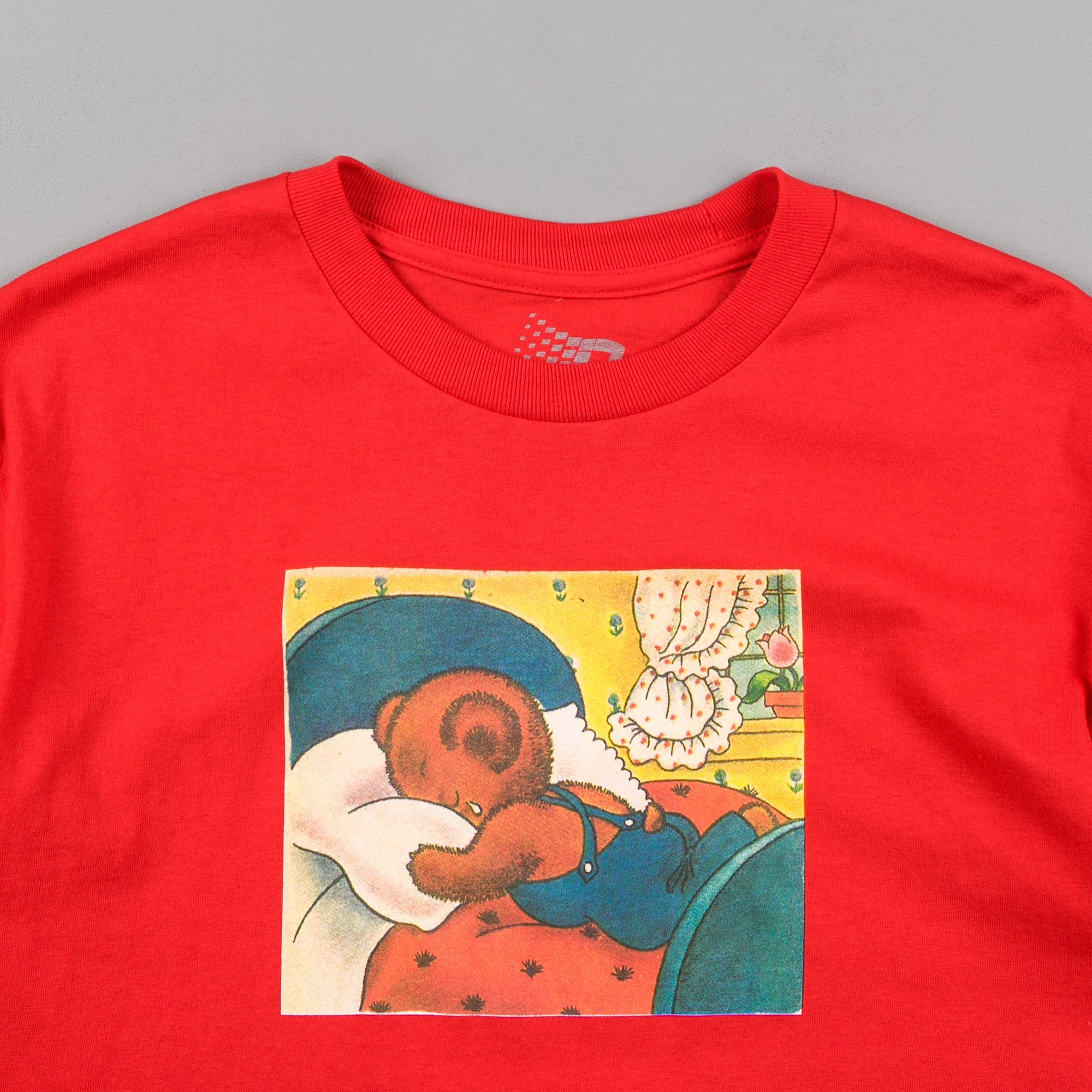 Bronze 56k Sad Bear T-Shirt - Red