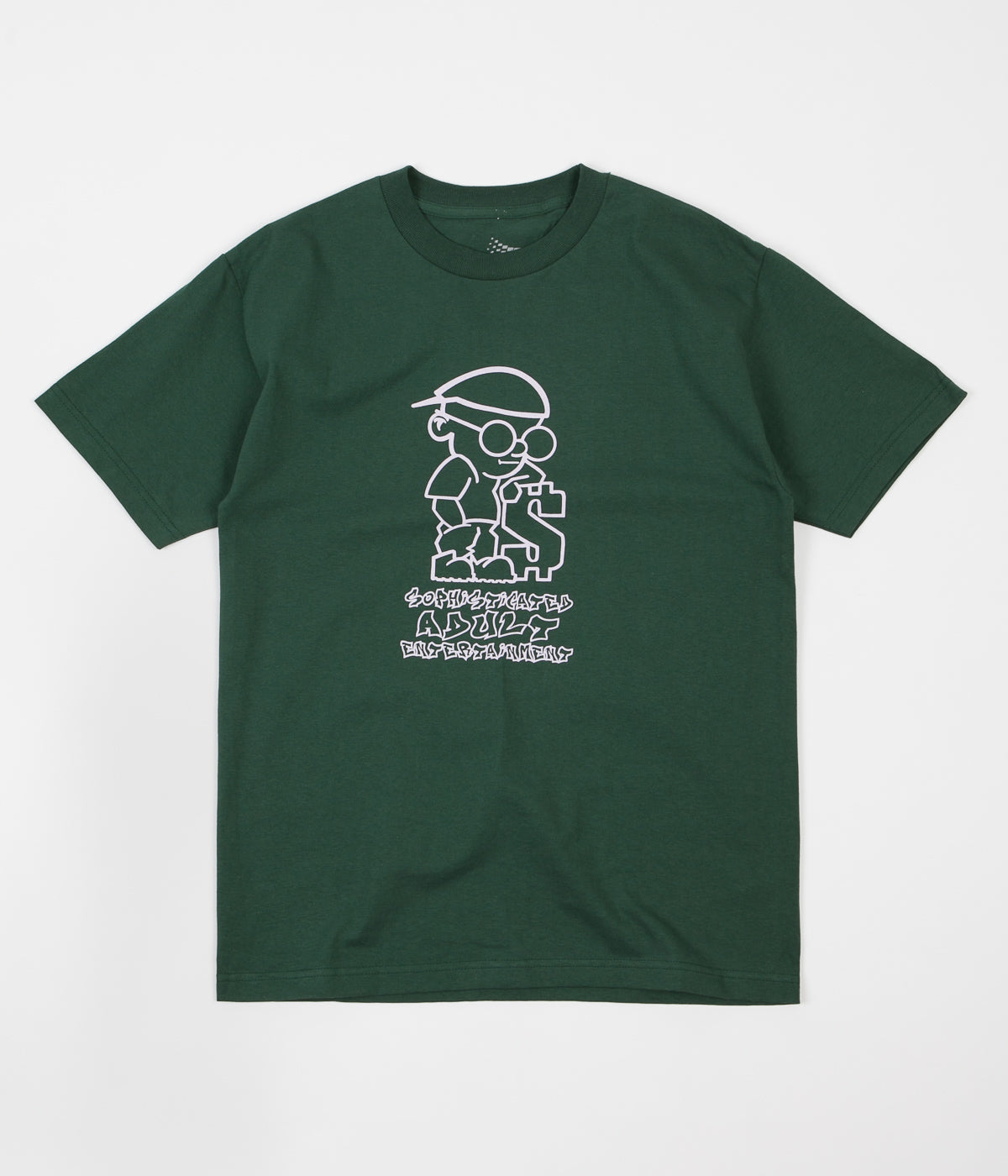 Bronze 56K Sophisticated Guy T-Shirt - Forest Green / Light Pink