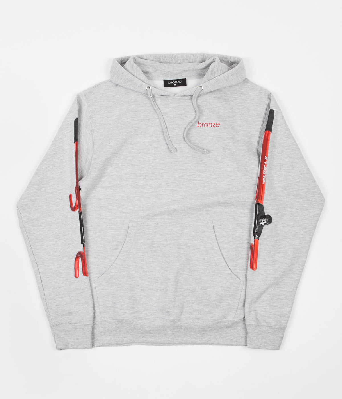 Bronze 56K The Club Hoodie - Heather Grey / Red