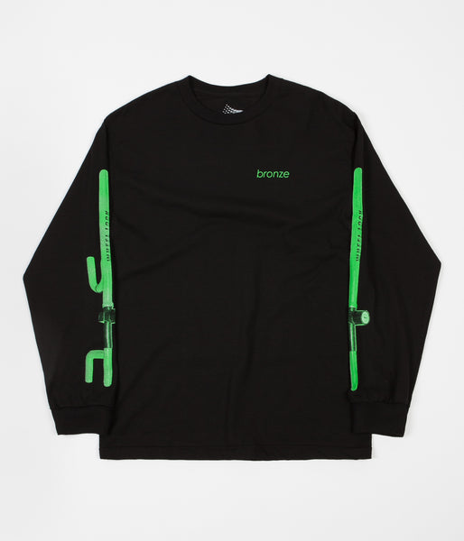 Bronze 56K The Club Long Sleeve T-Shirt - Black / Neon Green
