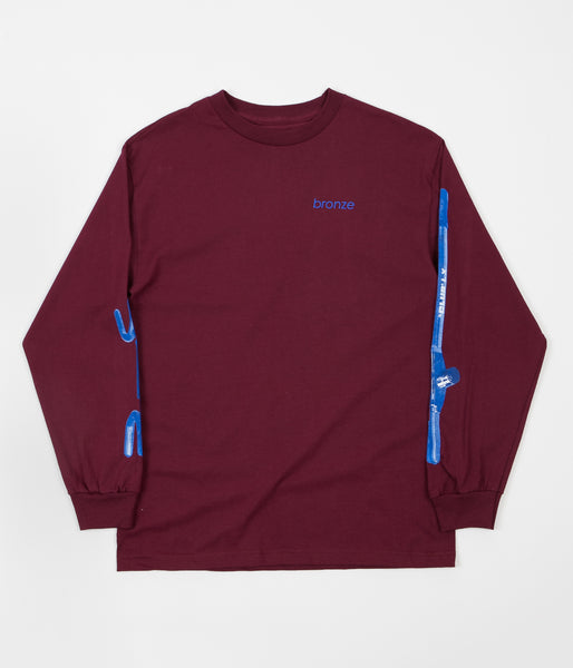 Bronze 56K The Club Long Sleeve T-Shirt - Cardinal / Blue
