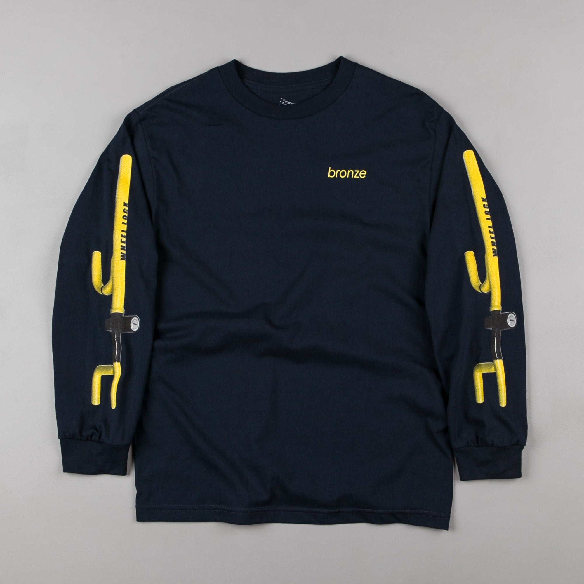 Bronze 56k The Club Long Sleeve T-Shirt - Navy