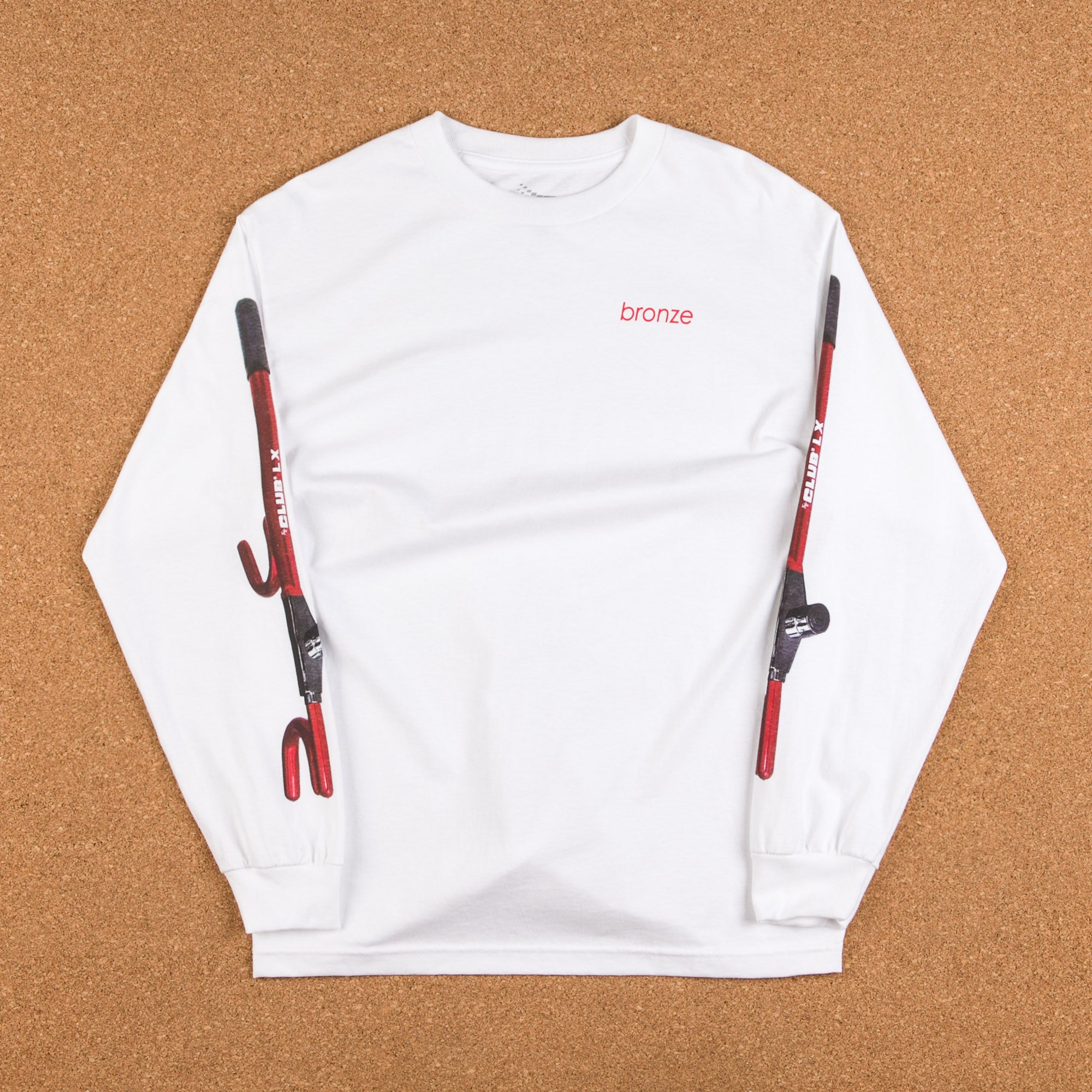 Bronze 56k The Club Long Sleeve T-Shirt - White