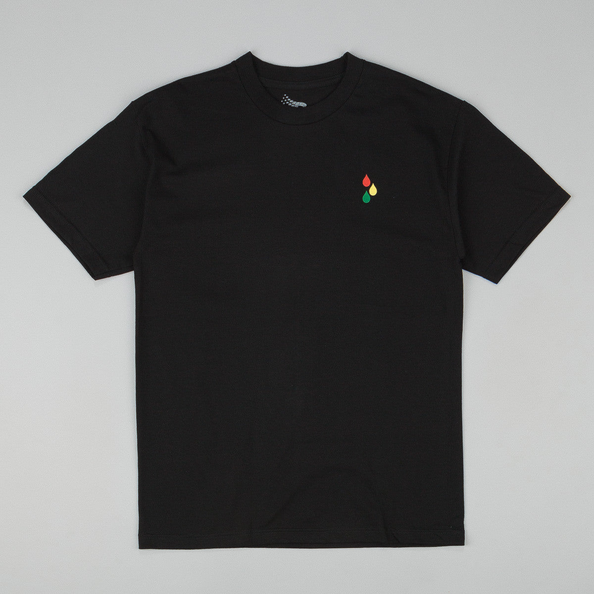 Bronze 56k Teardrop T-Shirt - (Rasta) Black