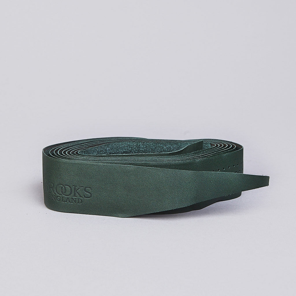 Brooks Leather Bar Tape New Green
