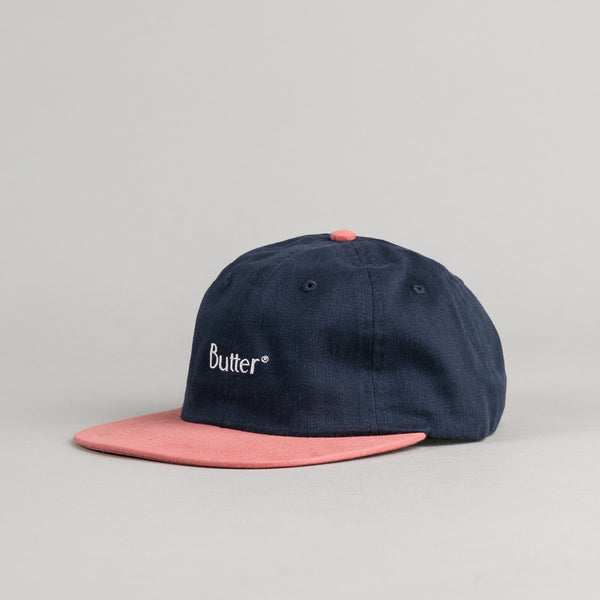 Butter Goods 2-Tone Brushed 6 Panel Cap - Navy / Clay