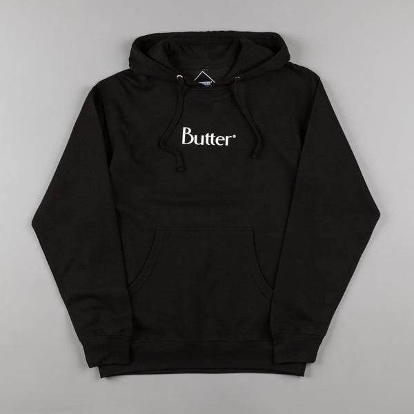 Butter Goods Classic Logo Hooded Sweatshirt - Black