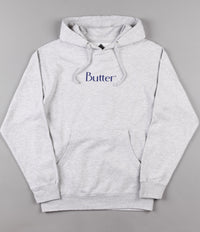 Butter Goods Classic Logo Hooded Sweatshirt - Heather Grey