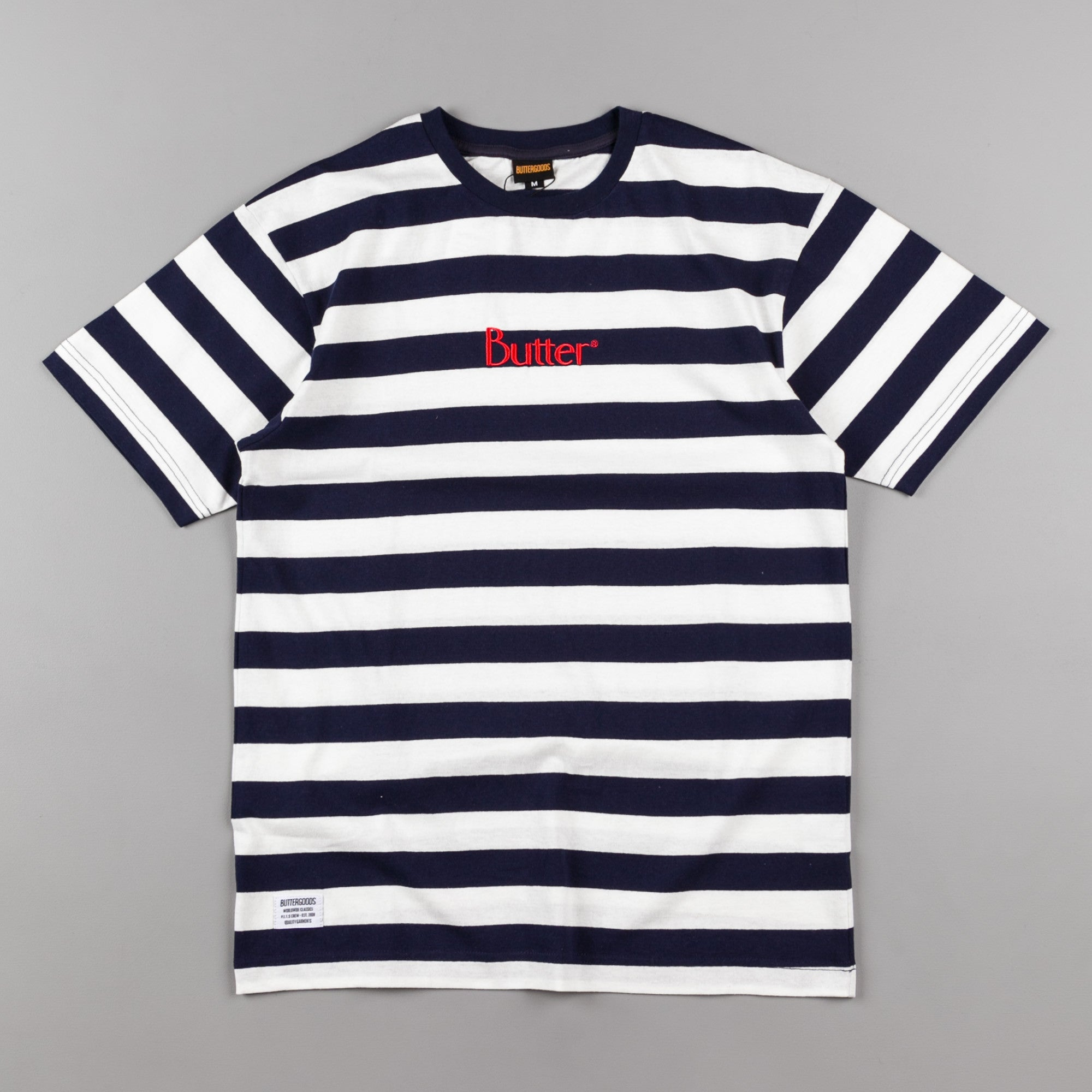 Butter Goods Classic Stripe T-Shirt - Navy