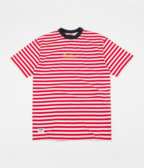 99931a0b679 Butter Goods Classic Stripe T-Shirt - Red