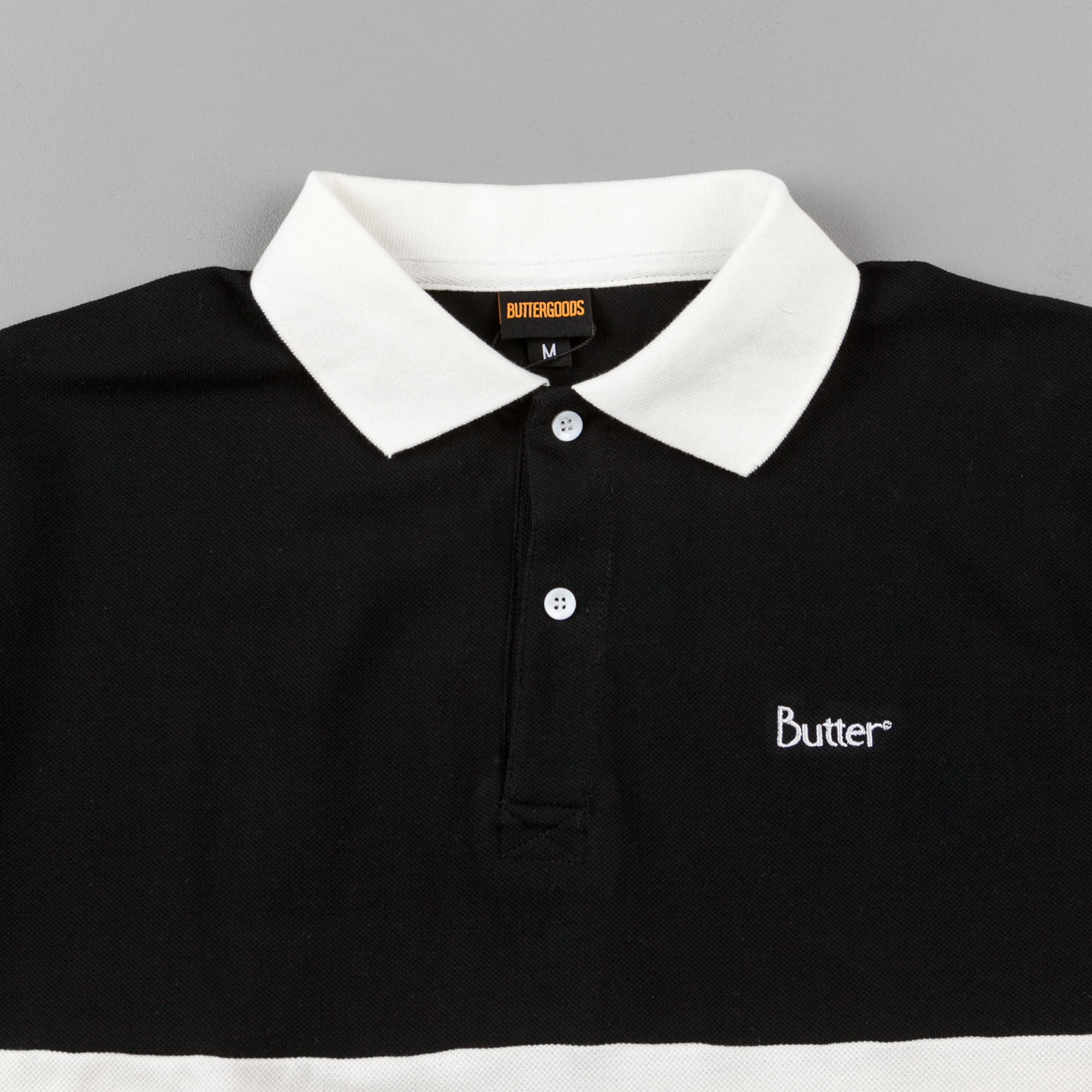 Butter Goods Court Polo Shirt - Black / White / Mint