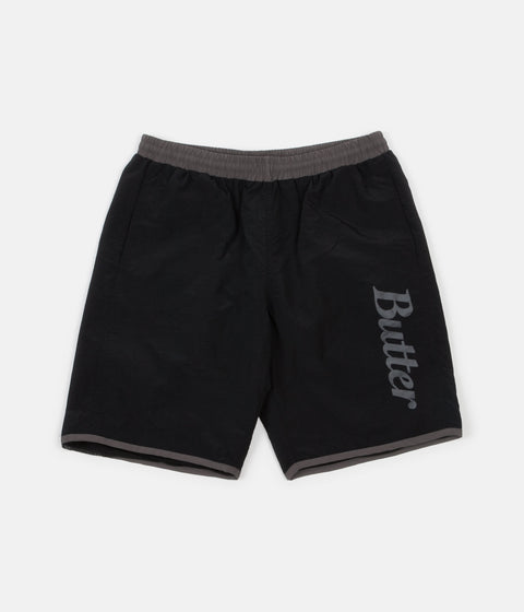 Butter Goods Cycle Nylon Shorts - Black / Grey