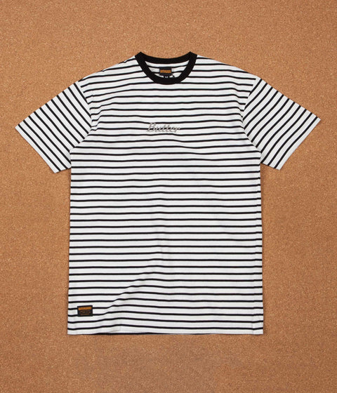 Butter Goods Cycle Stripe T-Shirt - Black