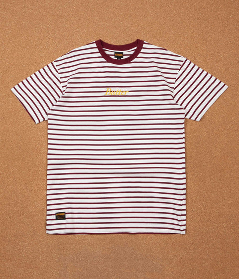 Butter Goods Cycle Stripe T-Shirt - Burgundy