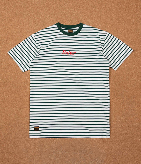 Butter Goods Cycle Stripe T-Shirt - Forest