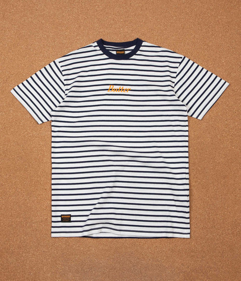 Butter Goods Cycle Stripe T-Shirt - Navy