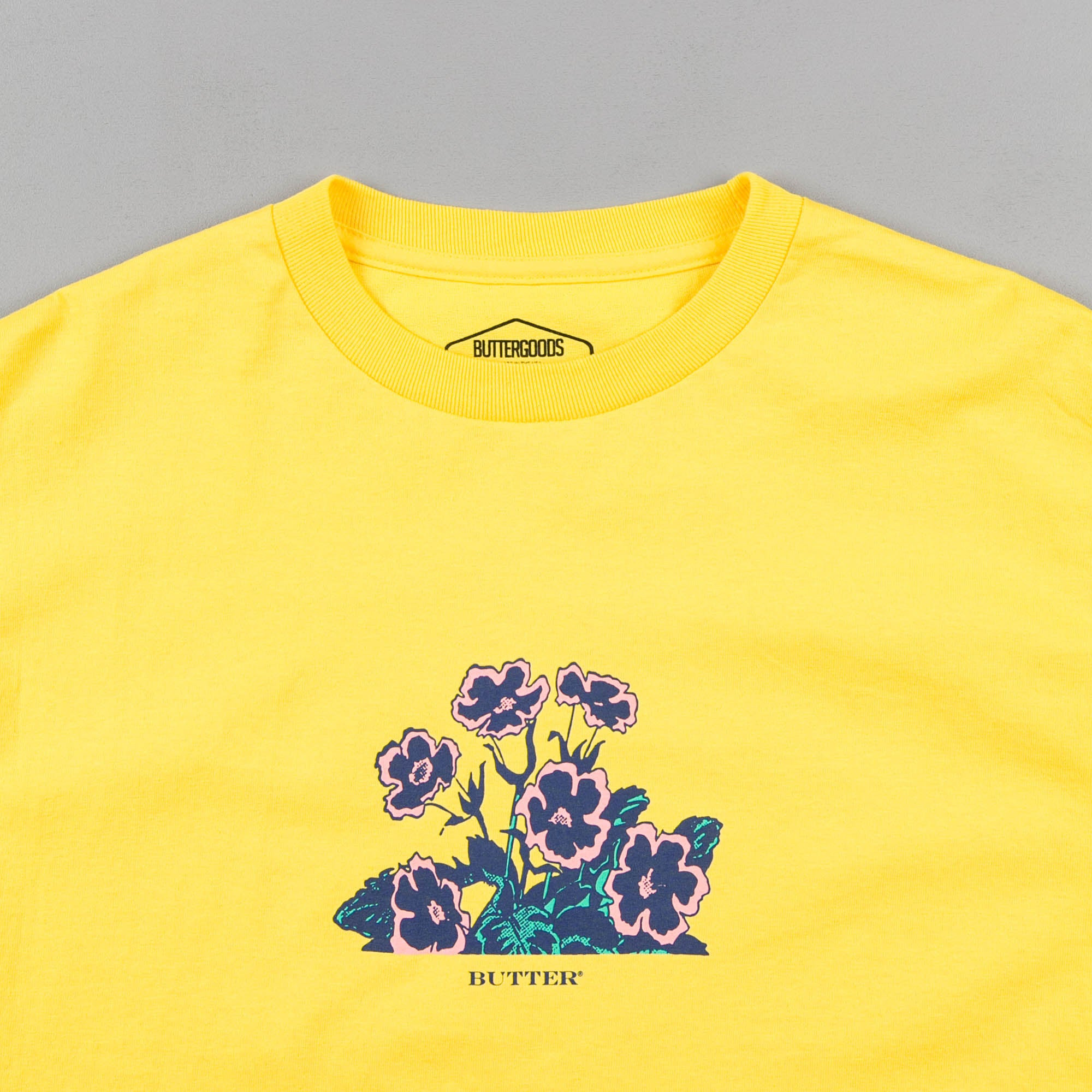 Butter Goods Flora T-Shirt - Yellow