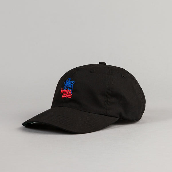 Butter Goods Floral 6 Panel Cap - Black