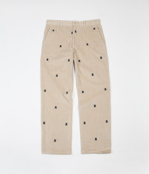 Butter Goods Fly Corduroy Pants - Natural / Navy