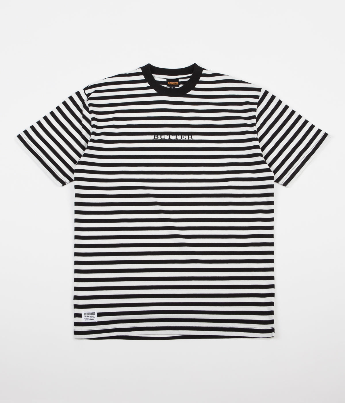 Butter Goods Hampshire Stripe T-Shirt - Black