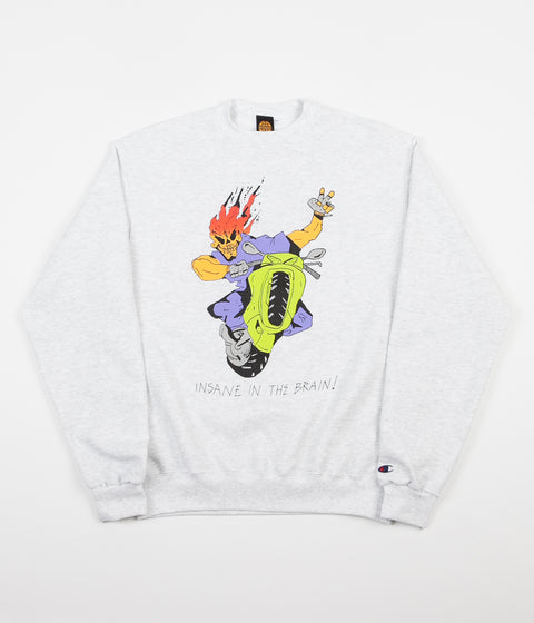 Butter Goods Insane In The Brain Crewneck Sweatshirt - Ash Grey