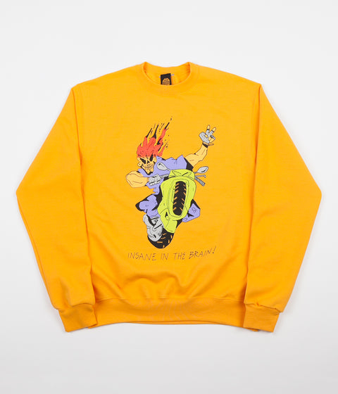 Butter Goods Insane In The Brain Crewneck Sweatshirt - Gold