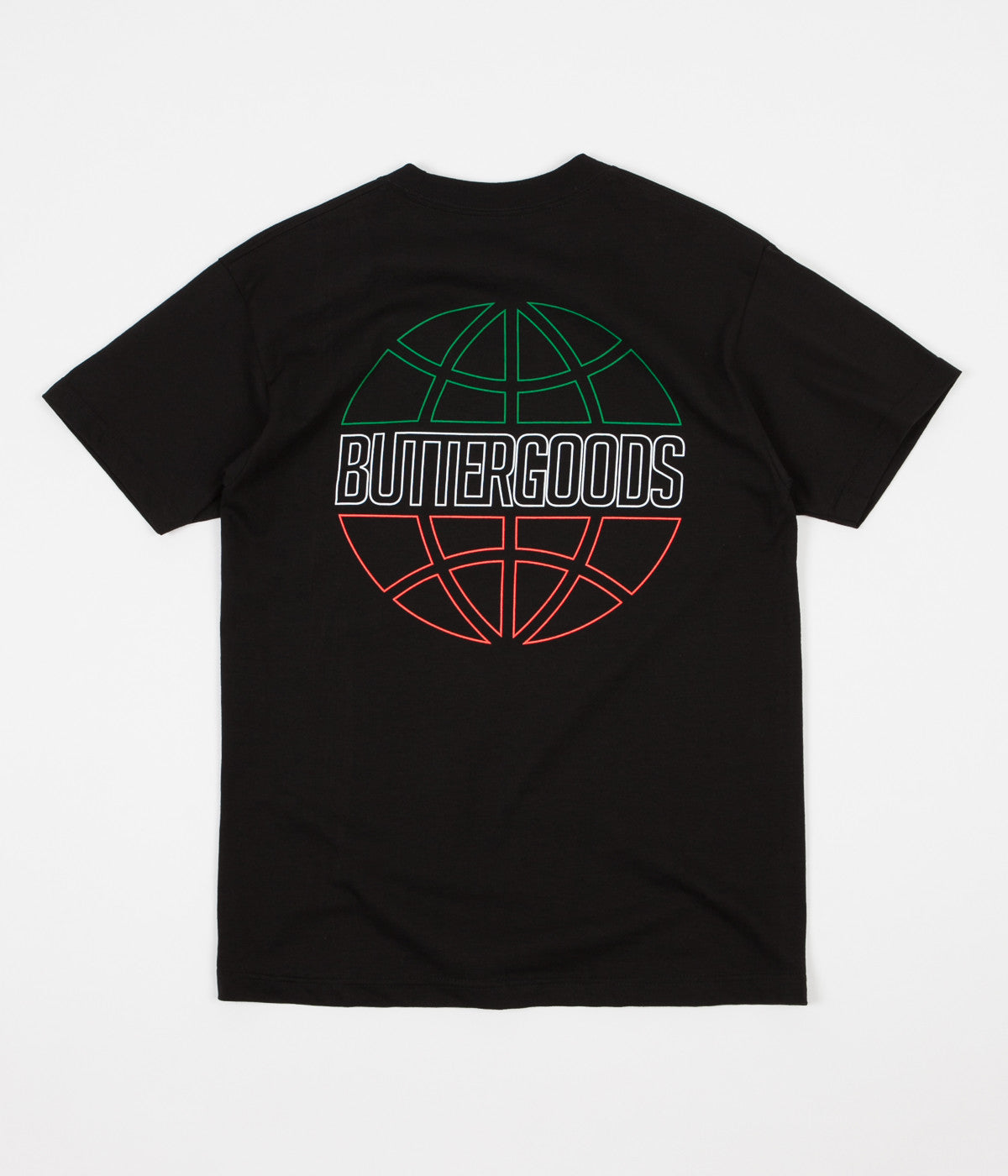 Butter Goods Italia Outline Logo T-Shirt - Black