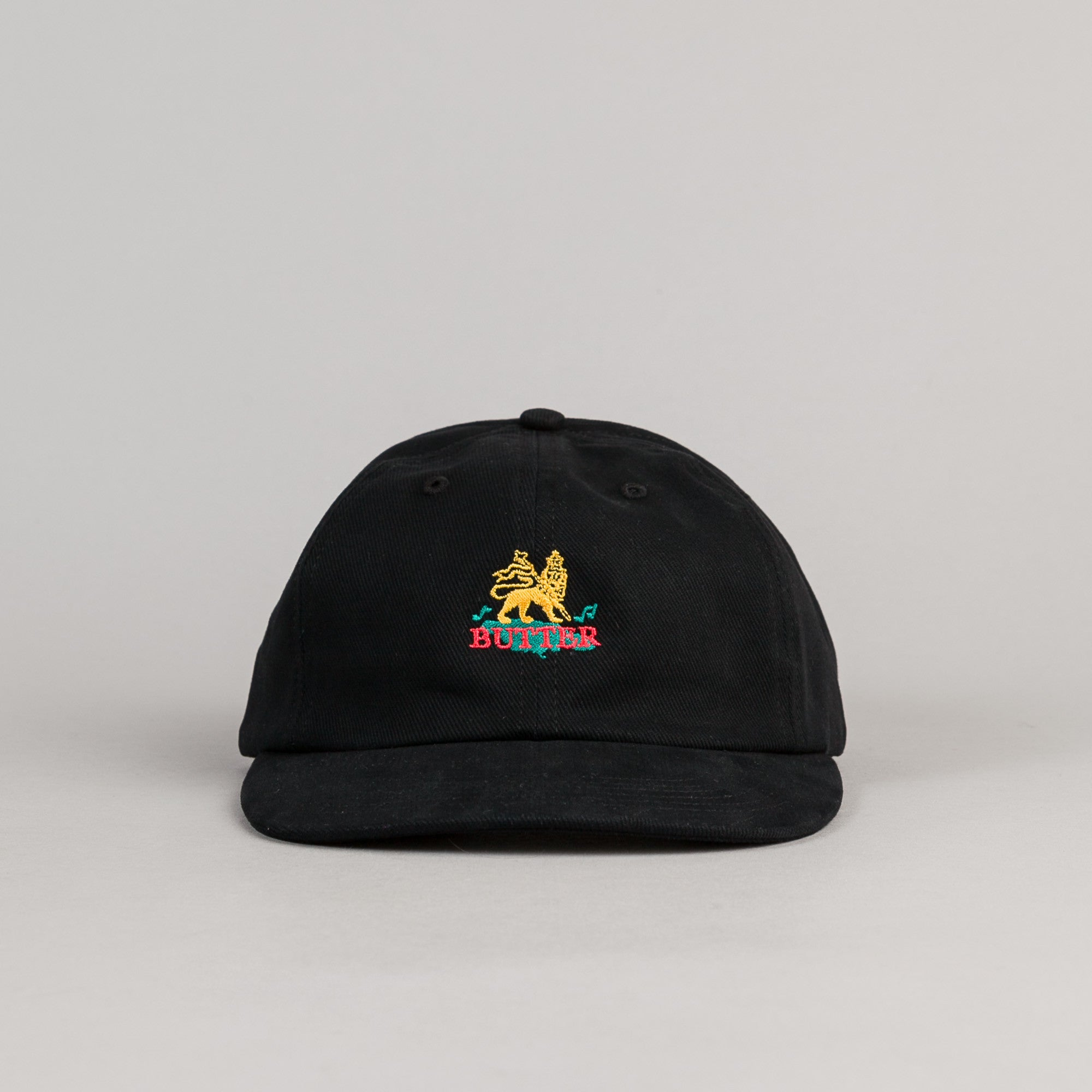Butter Goods Judah 6 Panel Cap - Black